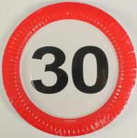 Partyteller Verkehrsschild 30 Jahre