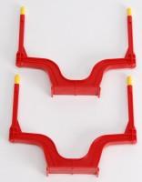 BRUDER Ersatzteil 2 rote Rungen für Rückeanhänger