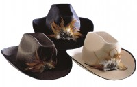 Cowboyhut mit Federn