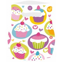 6 Partybeutel Cupcake