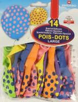 Gummiballone mit farbigen Punkten