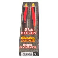 2 Blutende Kerzen schwarz/rot