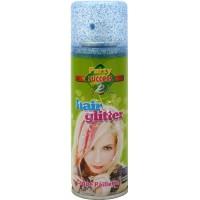 Haar Glitterspray blau