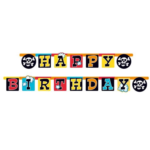 """Pirat Partykette """"Happy Birthday"""""""