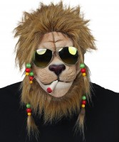 Maske Rastalöwe mit Sonnenbrille