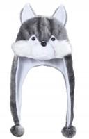 Plüschmütze Wolf