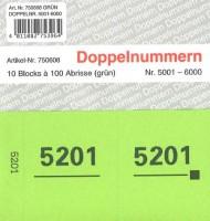 Doppelnummer grün 120x60mm 5001-6000