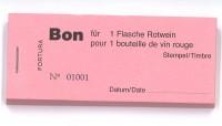 Bon für 1 Flasche Rotwein
