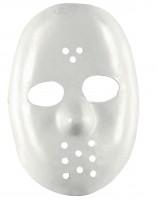 Weisse Hockey-Gesichtsmaske