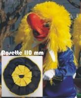 Waggisrosette schwarz/gelb