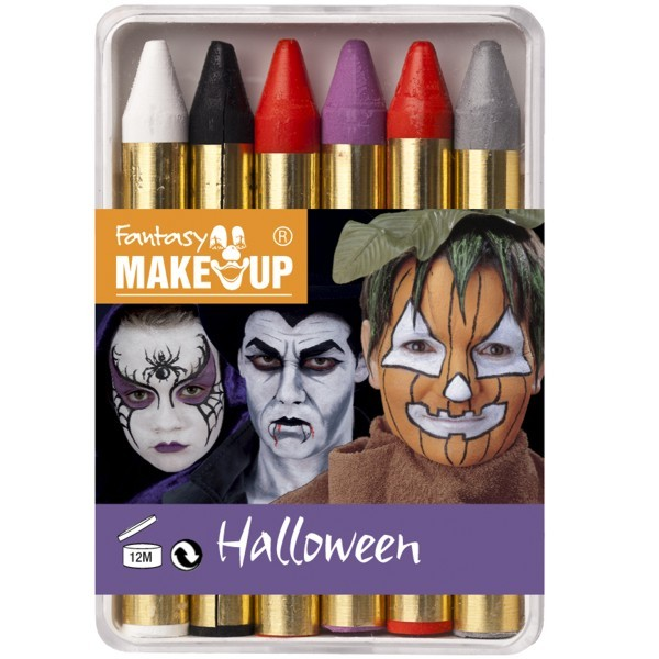 Schminkstifte Halloween 6x