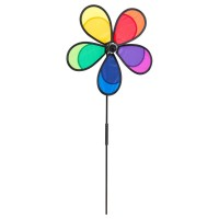 HQ INVENTO Windrad Flower Fly Rainbow