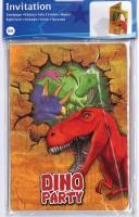 Einladungskarte Dino