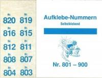 Aufklebenummern für Gabentisch 801-900