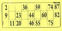 Lottokarten gelb