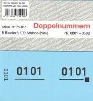 Doppelnummer blau 120x60mm 1-500