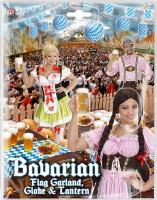 Deko-Set Bayern Girlande 4m Laterne & Wabenball 25cm