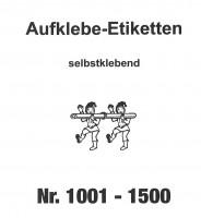 Aufklebenummern für Gabentisch 1001-1500