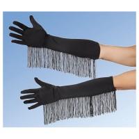 ANDREA MODEN Handschuhe Satin schwarz