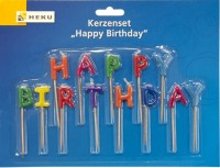 Kerzenset Happy Birthday