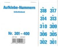 Aufklebenummern für Gabentisch 301-400