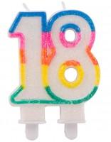 Glitter Geburtstagskerze 18 Jahre