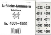 Aufklebenummern für Gabentisch 4001-4500