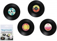 Untersetzer Set Vinyl Schallplatte