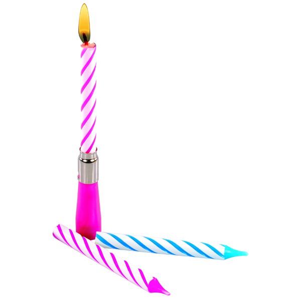 Kerze mit Musik Happy Birthday assortiert