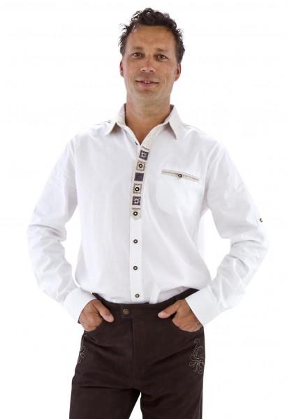 Weisses Trachtenhemd XL