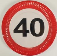 Partyteller Verkehrsschild 40 Jahre