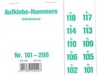 Aufklebenummern für Gabentisch 101-200