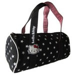 Hello Kitty Handtasche rund 35cm schwarz