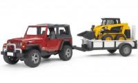 BRUDER Jeep Wrangler Unlimited mit Einachsanhänge