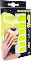 Neongelbe Fingernägel