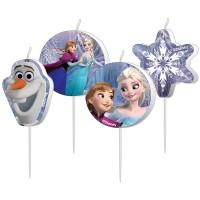 4 Geburtstagskerzen Frozen