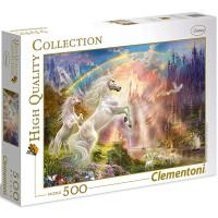 Clementoni Puzzle Sunset Unicorns 500 teilig