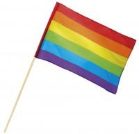 Regenbogen Handfahne