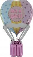 Silberfolienballon Heissluftballon