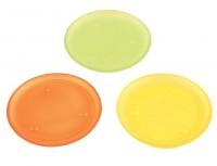 3 farbige Glasteller