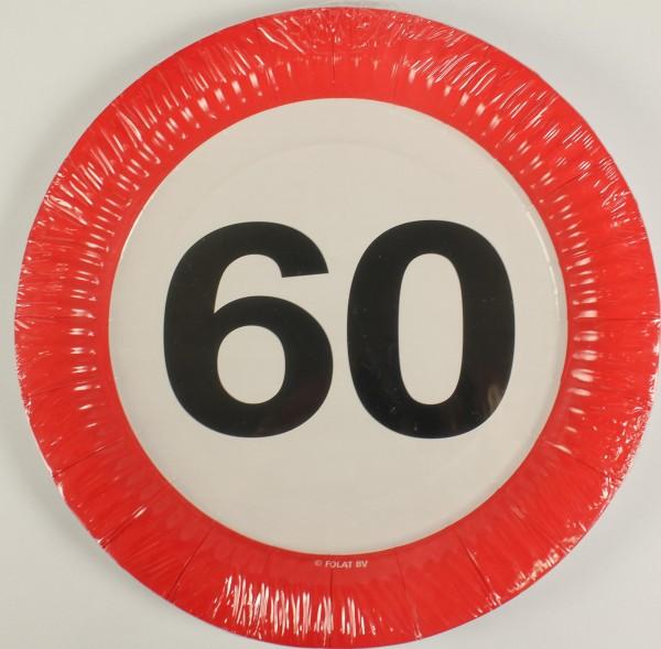 Partyteller Verkehrsschild 60 Jahre