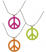Halskette Hippie Neonfarben