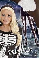 Skelett Strumpfhose XL