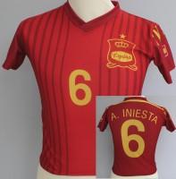 Fussballtrikot Spanien Grösse 110