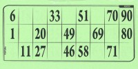 Lottokarten grün