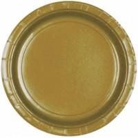 Amscan 8 Kartonteller 23cm gold