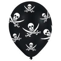Amscan 6 Ballone 27.5cm Jolly Roger