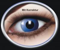 Kontaktlinse Blaue Elfe mit Korrektur