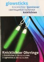 Grüne Ohrring - Knicklichter