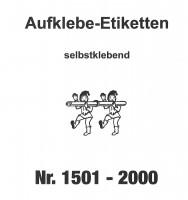 Aufklebenummern für Gabentisch 1501-2000